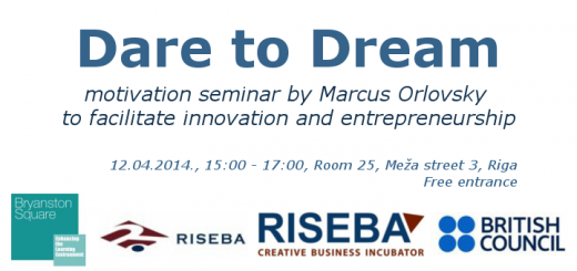"Motivation seminar ""Dare to dream"" to facilitate innovation and entrepreneurship"