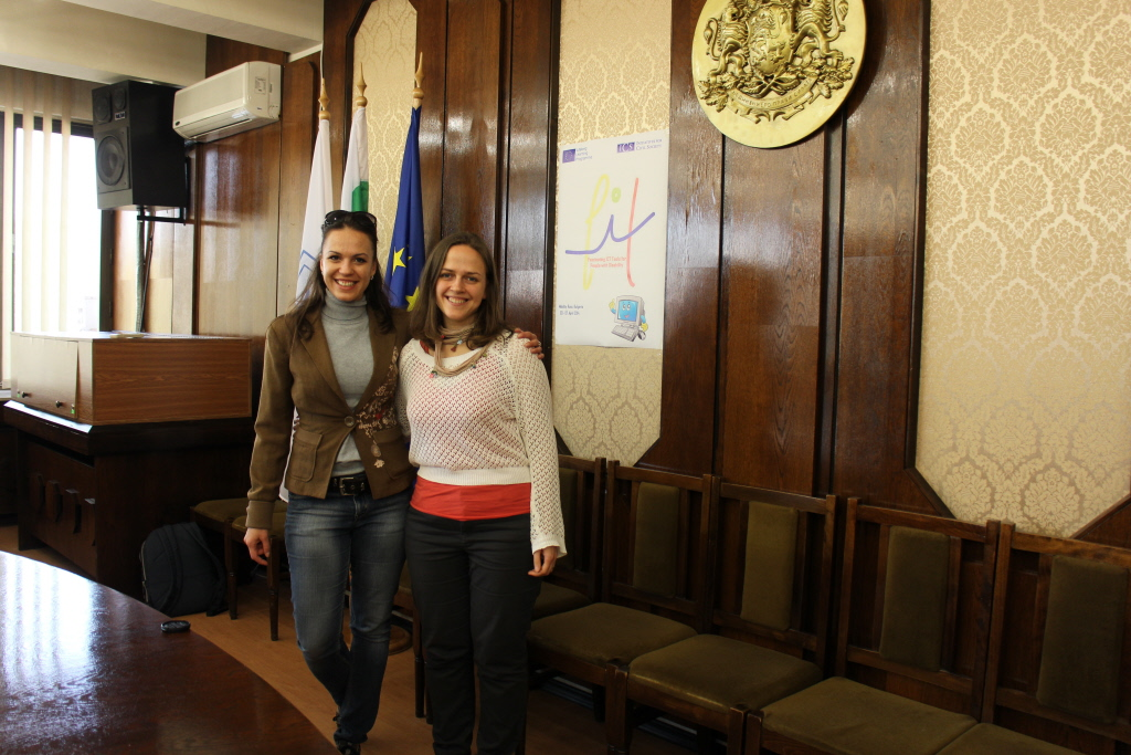 With the Bulgarian Partner at the municipality, Ruse, Bulgaria