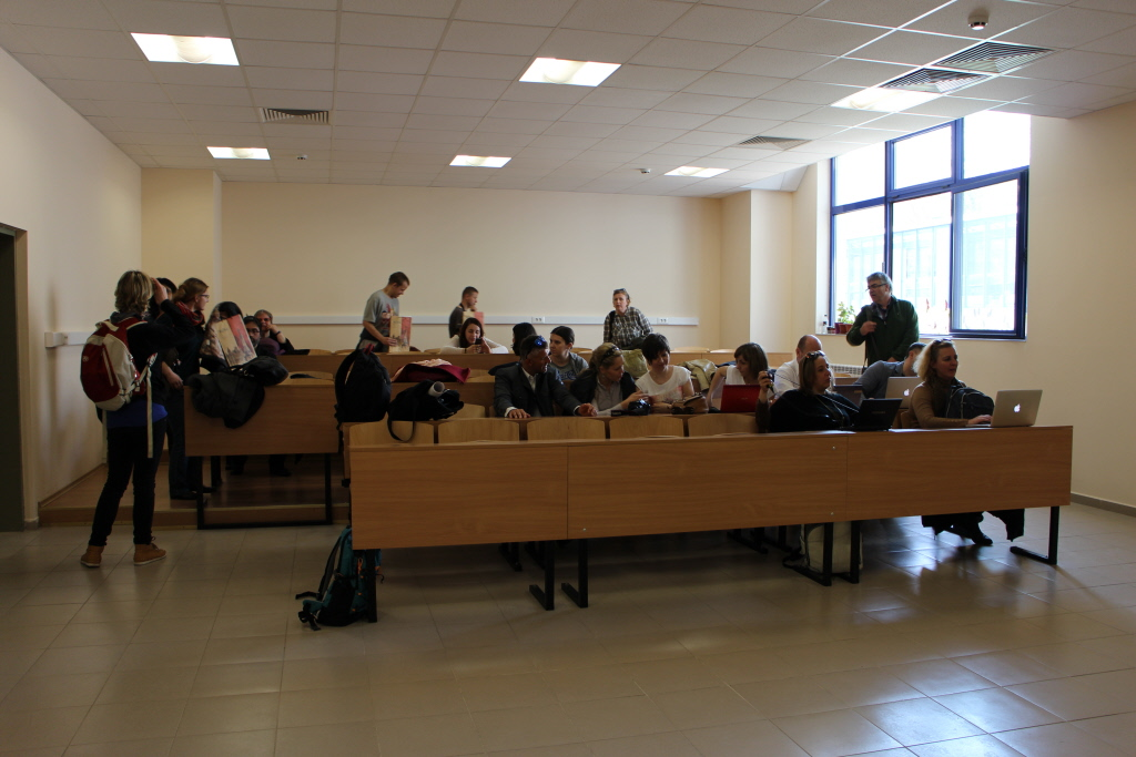 Working on the FIT portal at the University of Ruse, Ruse, Bulgaria