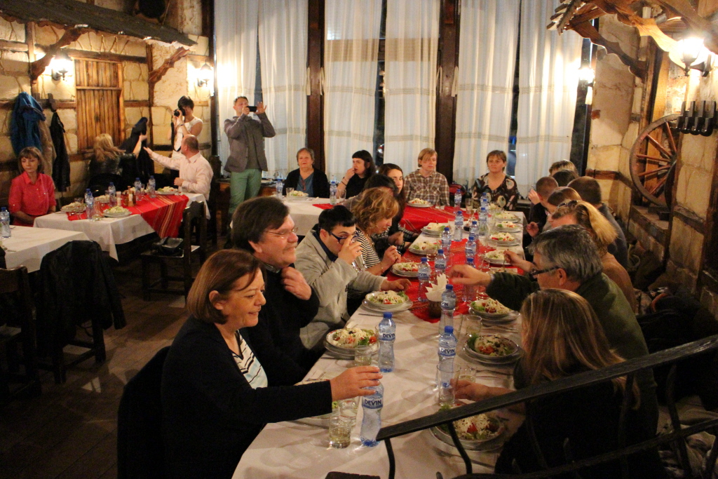 Dinner at the traditional Bulgarian restaurant