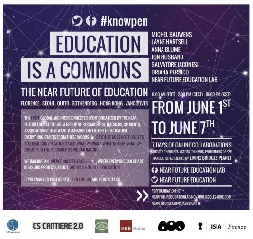 """Education is a commons"" events flyer"