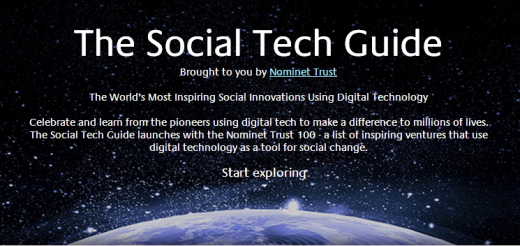 The Social Tech Guide created by Nominet Trust