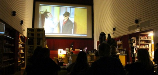 Dinner and video presentations at the ex-cinema